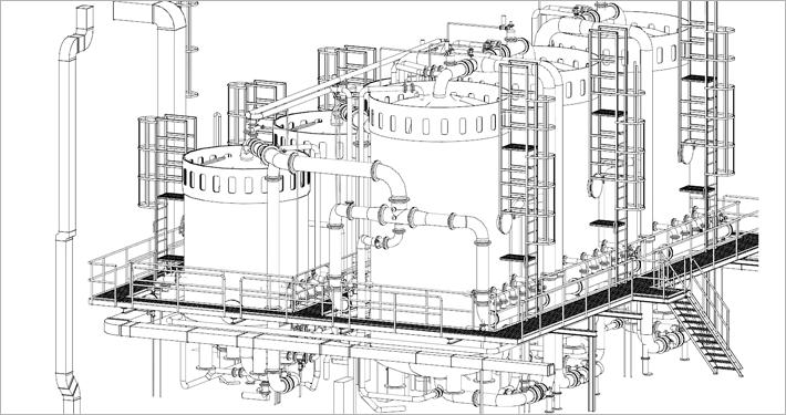 3D Modell Wasseraufbereitungsanlage