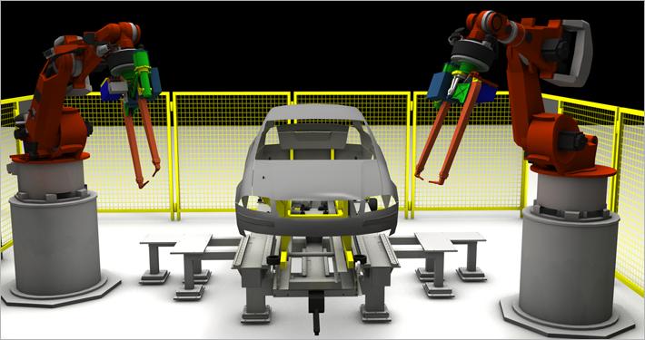 Simulation Roboterzelle