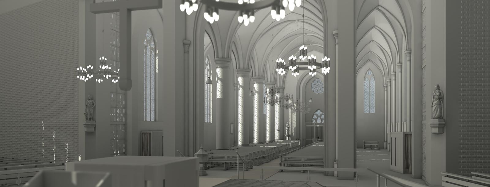 3D Modell Kirche