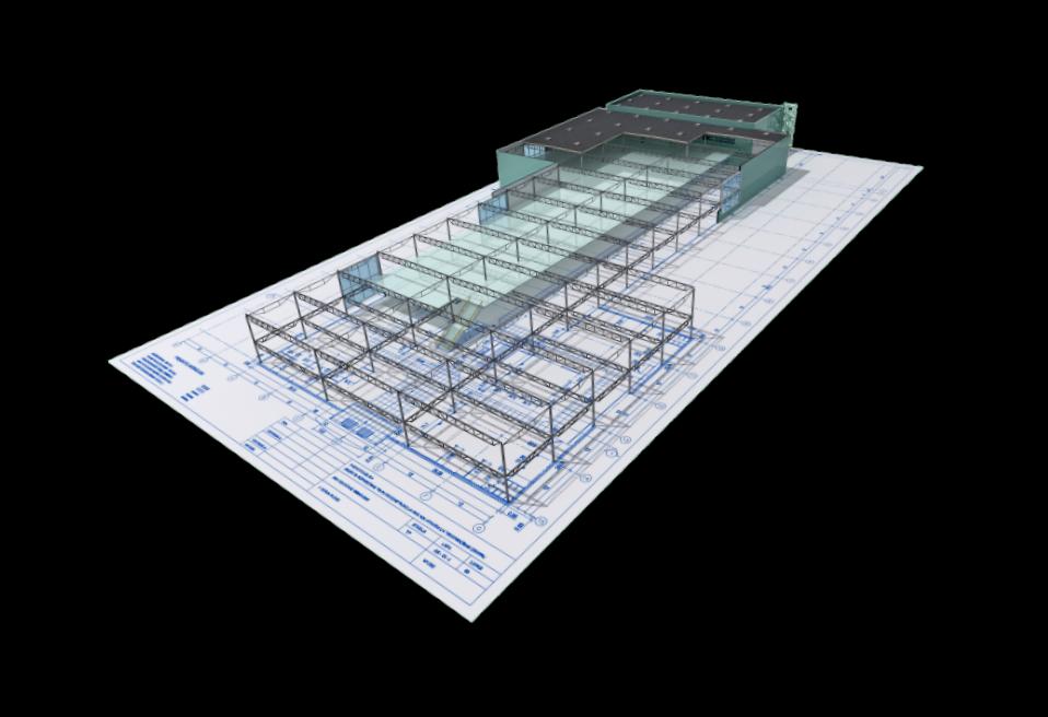 3D-Model Halle